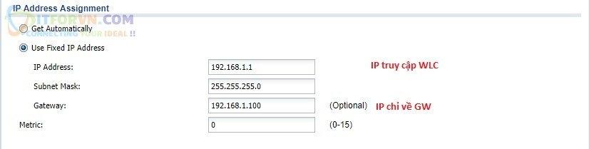 ITFORVN.COM H14-Cấu-hình-IP-tĩnh-cho-VLAN-0 Cấu hình Wireless Controller Zyxel  Phần 2