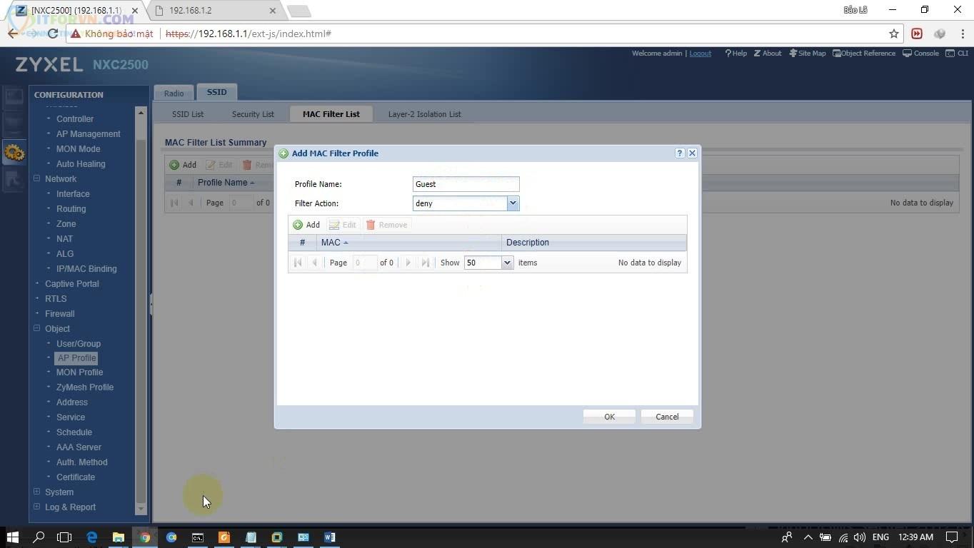 ITFORVN.COM H2-Chọn-SSID-cần-Filter Cấu hình Wireless Controller Zyxel  Phần 2