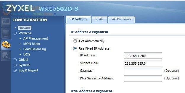 Set IP tĩnh cho Access Point