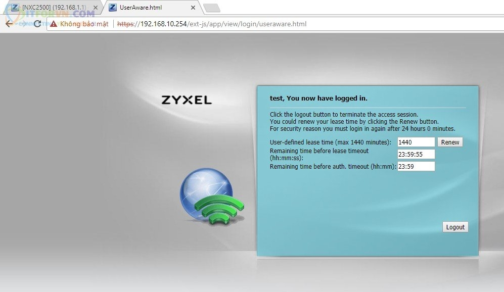 ITFORVN.COM H23-Test-Portal-sử-dụng-wifi Cấu hình Wireless Controller Zyxel  Phần 2