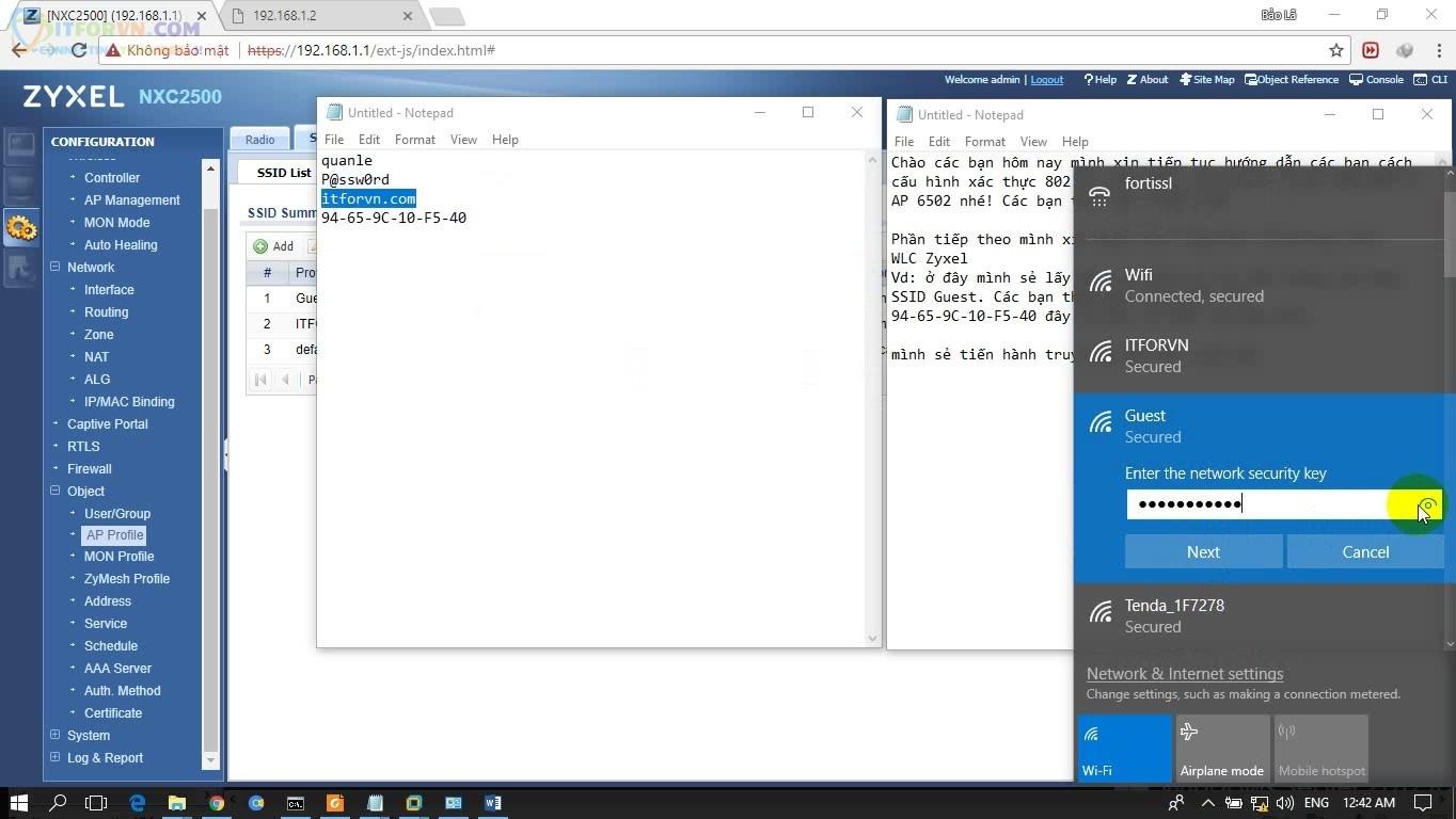 ITFORVN.COM H5-Truy-cập-với-MAC-bị-filter Cấu hình Wireless Controller Zyxel  Phần 2
