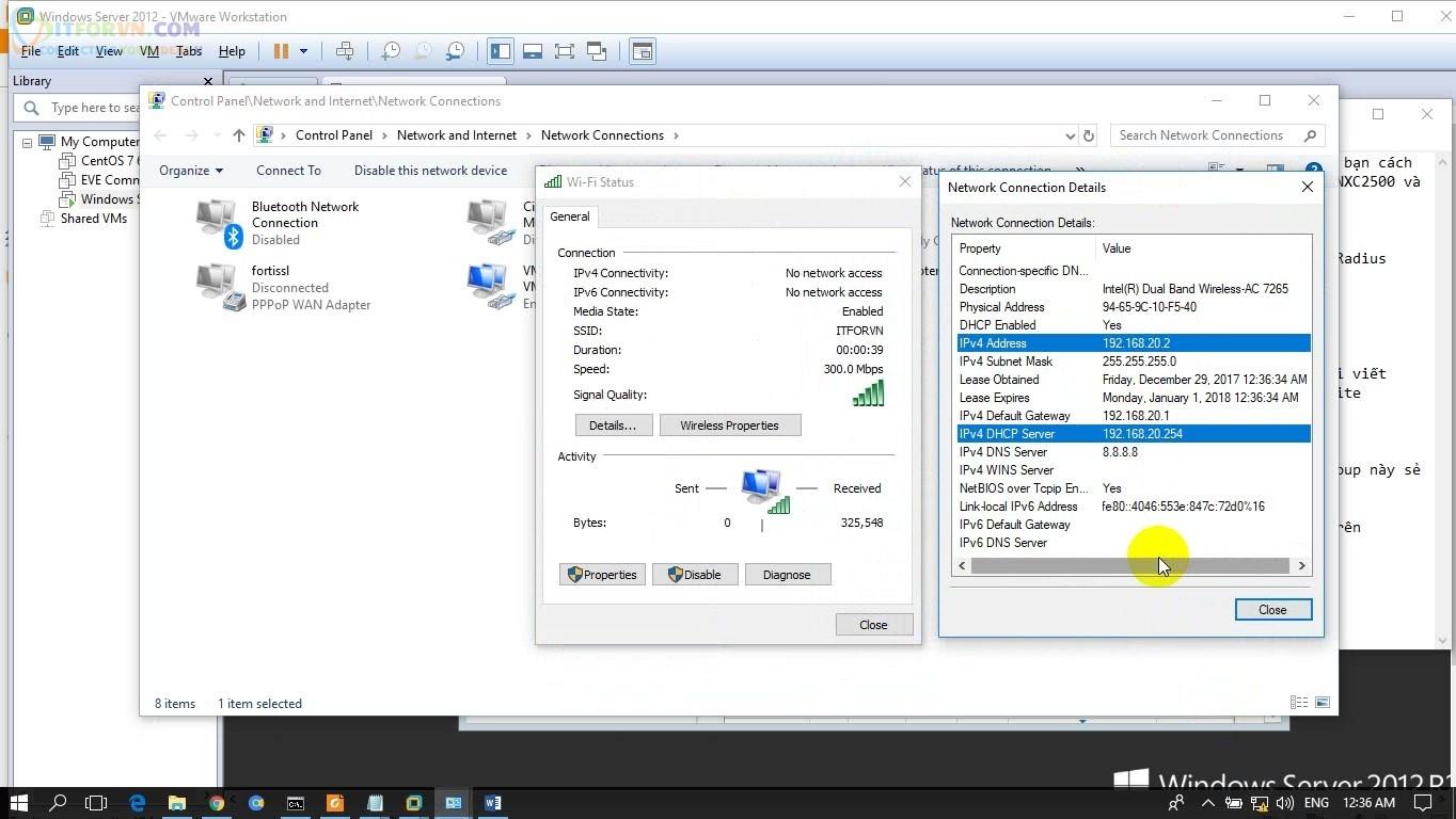 ITFORVN.COM H9.-Test-Wifi-RADIUS Cấu hình Wireless Controller Zyxel  Phần 3