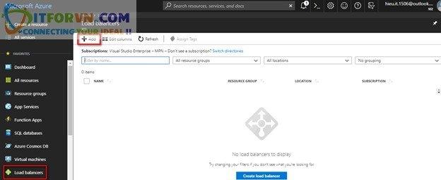 Untitled7 - Microsoft Azure Toàn Tập – Lab 4: Cấu Hình Cân Bằng Tải Trong Azure với Azure Resource Manager