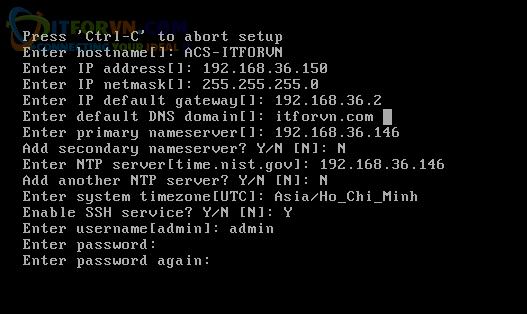 H11.Các thông số setup ACS