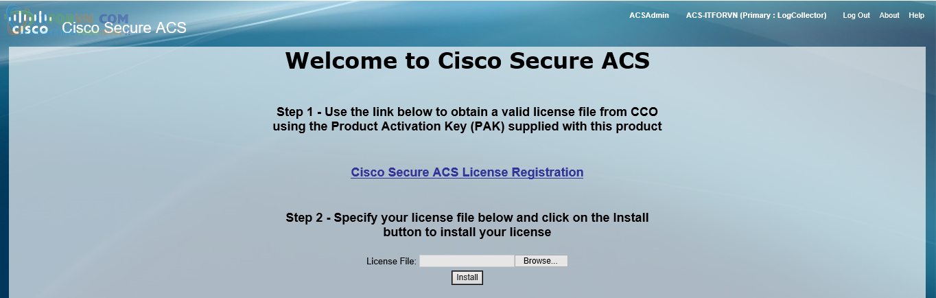 H33. Activate License ACS
