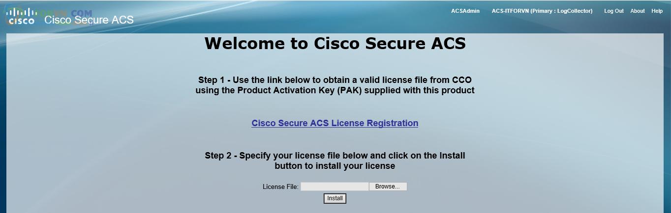 H20.ACS chưa active license