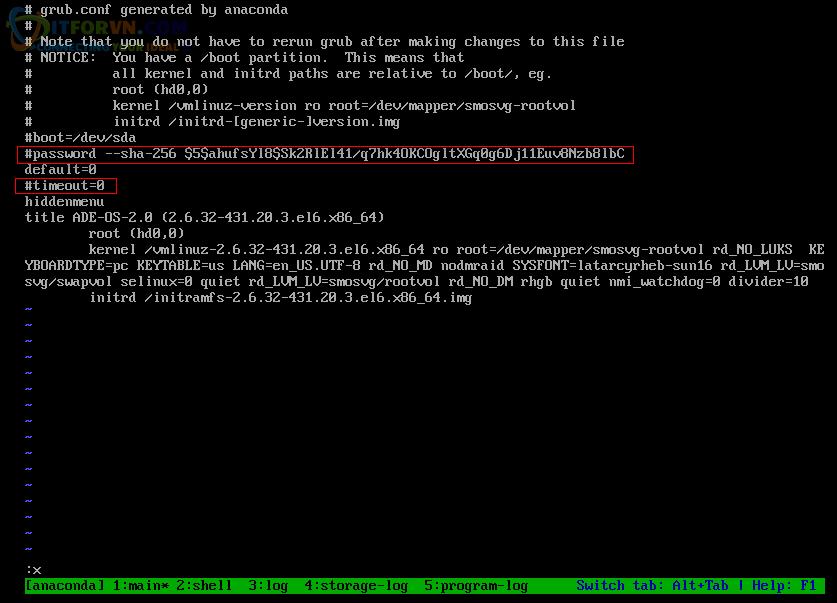 H28. Crack Password bảo vệ GRUB ACS