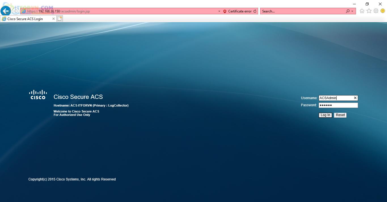 H33. Truy cập ACS Web