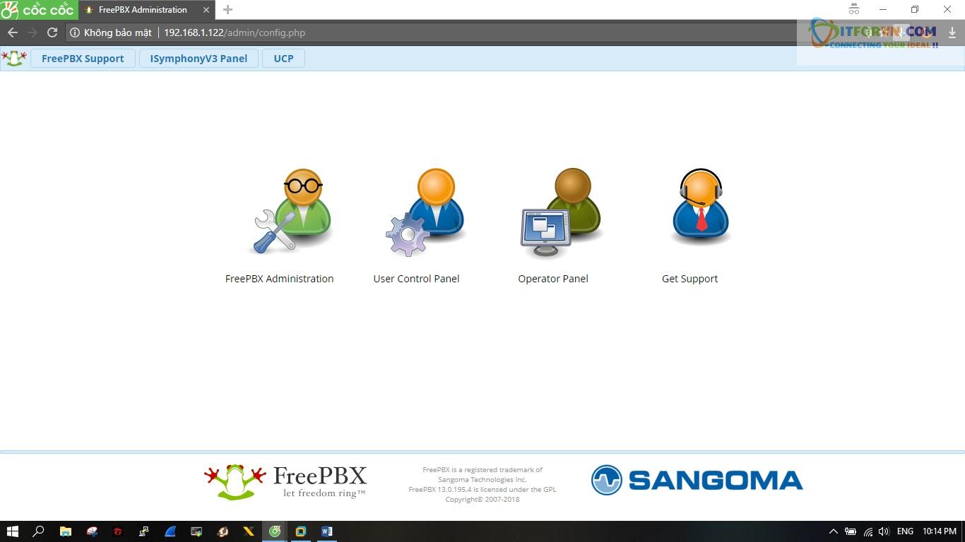 ITFORVN.COM New0148 Hướng dẫn cài đặt tổng đài FreePBX