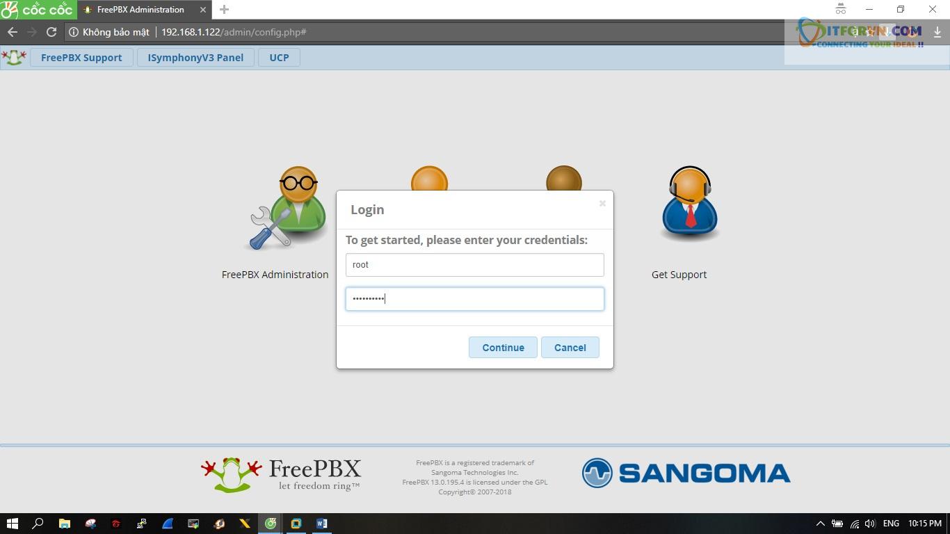 ITFORVN.COM New0149 Hướng dẫn cài đặt tổng đài FreePBX