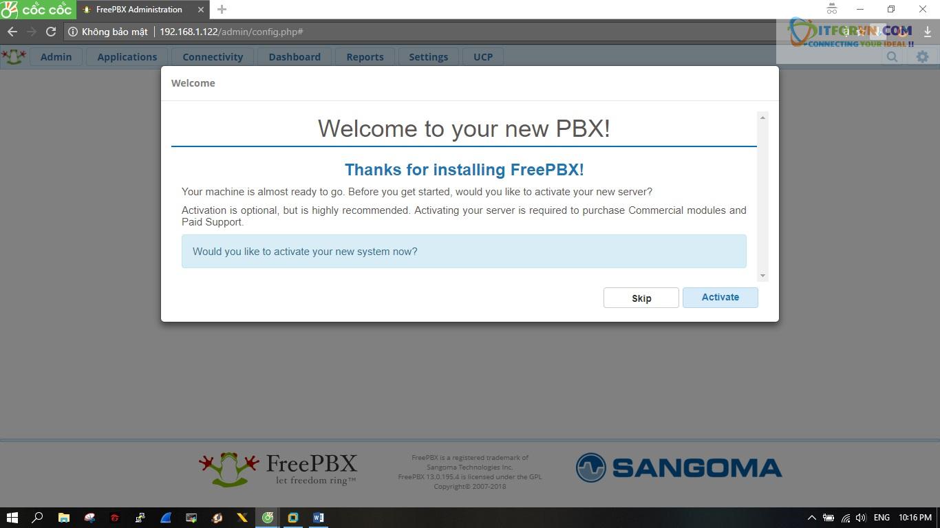 ITFORVN.COM New0150 Hướng dẫn cài đặt tổng đài FreePBX