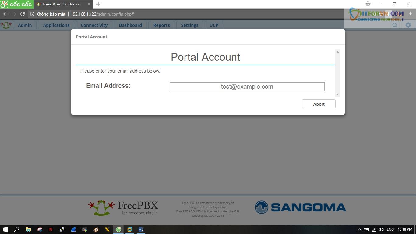 ITFORVN.COM New0151 Hướng dẫn cài đặt tổng đài FreePBX