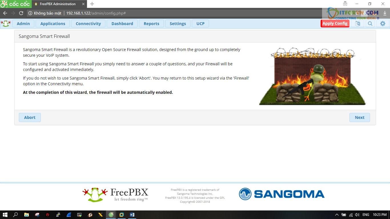 ITFORVN.COM New0154 Hướng dẫn cài đặt tổng đài FreePBX