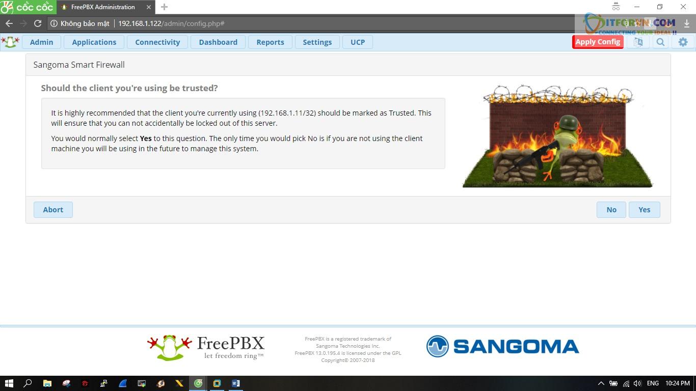 ITFORVN.COM New0155 Hướng dẫn cài đặt tổng đài FreePBX