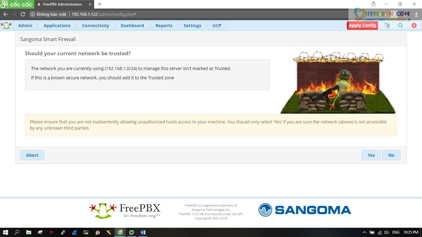 ITFORVN.COM New0156 Hướng dẫn cài đặt tổng đài FreePBX