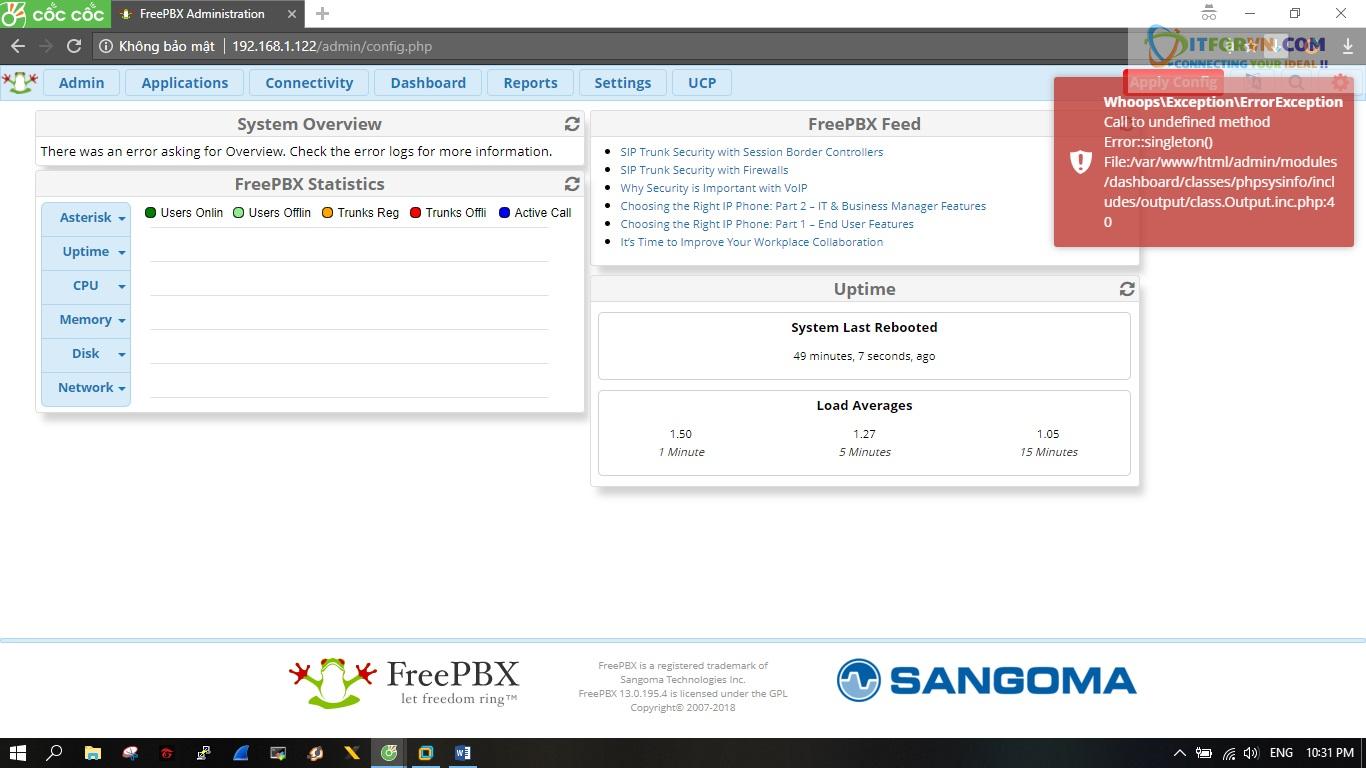 ITFORVN.COM New0161 Hướng dẫn cài đặt tổng đài FreePBX