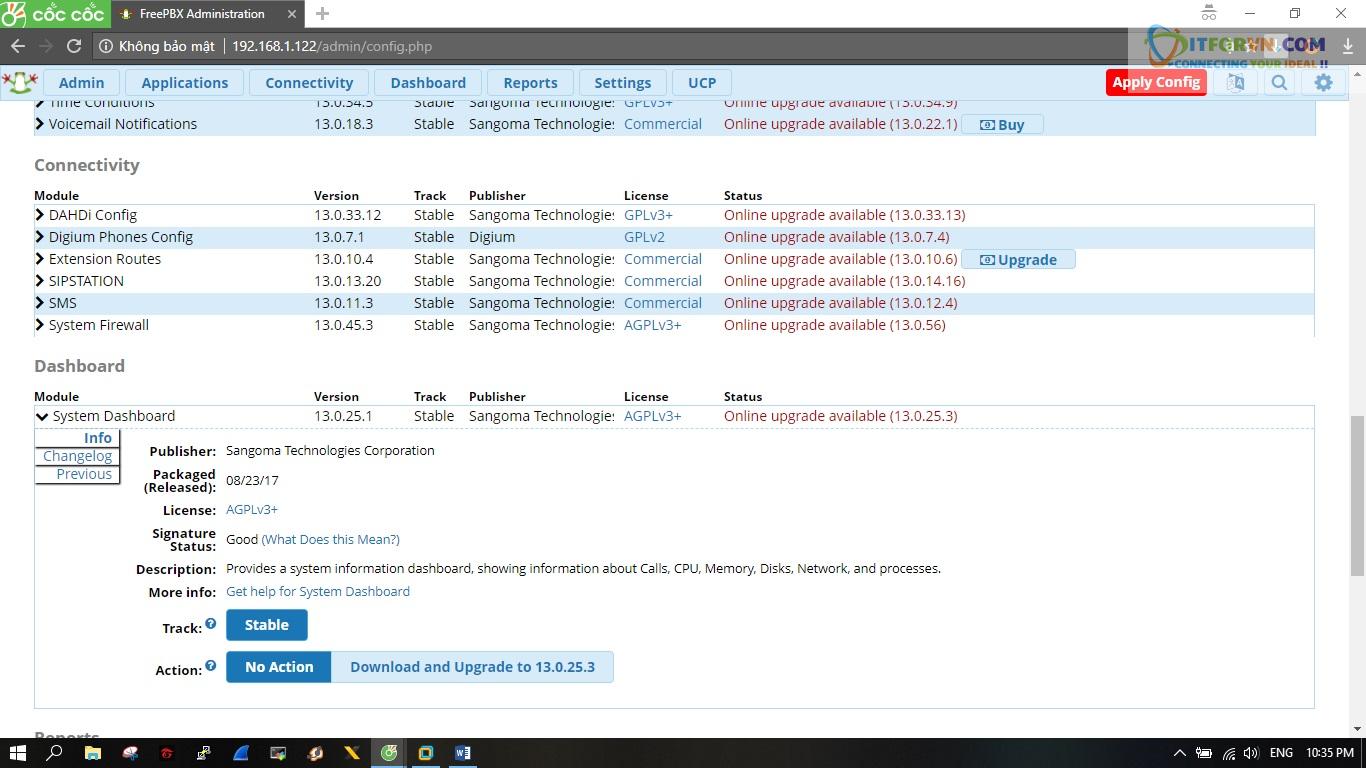 ITFORVN.COM New0163 Hướng dẫn cài đặt tổng đài FreePBX