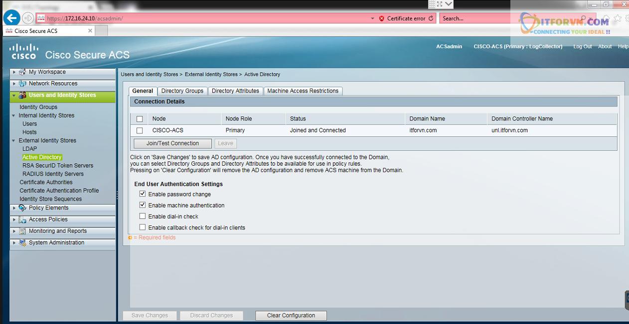 New0192 - Hướng dẫn cấu hình xác thực giữa Cisco ACS với thiết bị router, switch