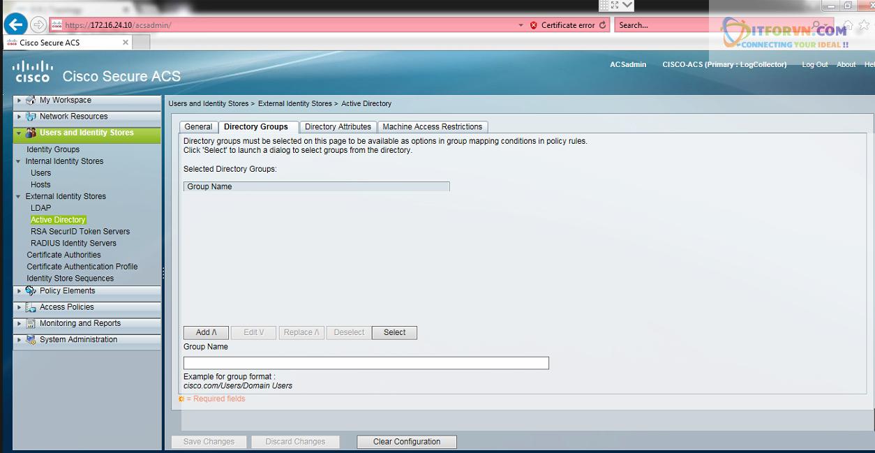 New0193 - Hướng dẫn cấu hình xác thực giữa Cisco ACS với thiết bị router, switch