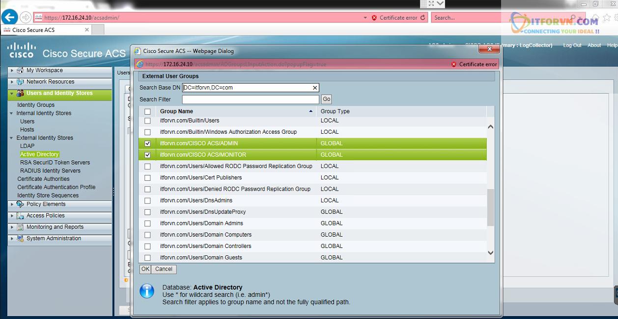 New0194 - Hướng dẫn cấu hình xác thực giữa Cisco ACS với thiết bị router, switch