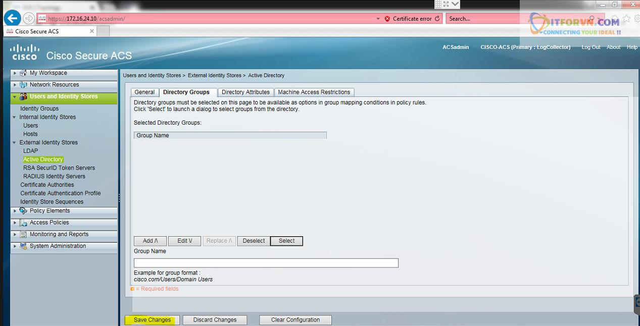 New0195 - Hướng dẫn cấu hình xác thực giữa Cisco ACS với thiết bị router, switch