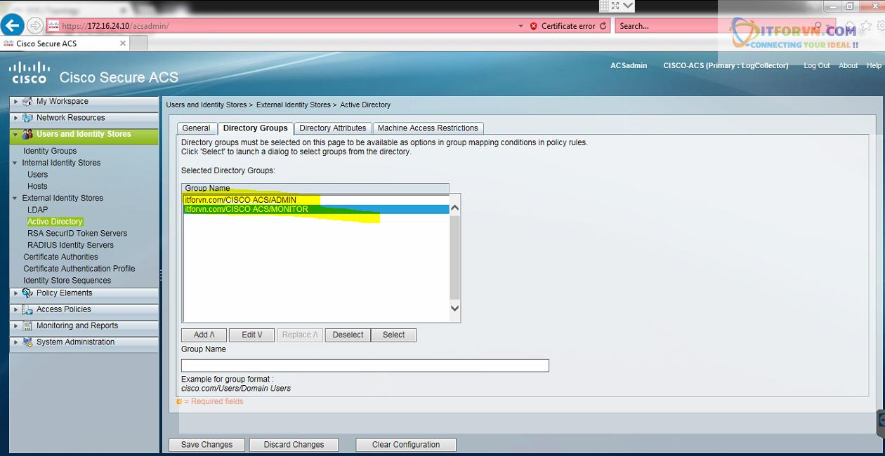 New0197 - Hướng dẫn cấu hình xác thực giữa Cisco ACS với thiết bị router, switch