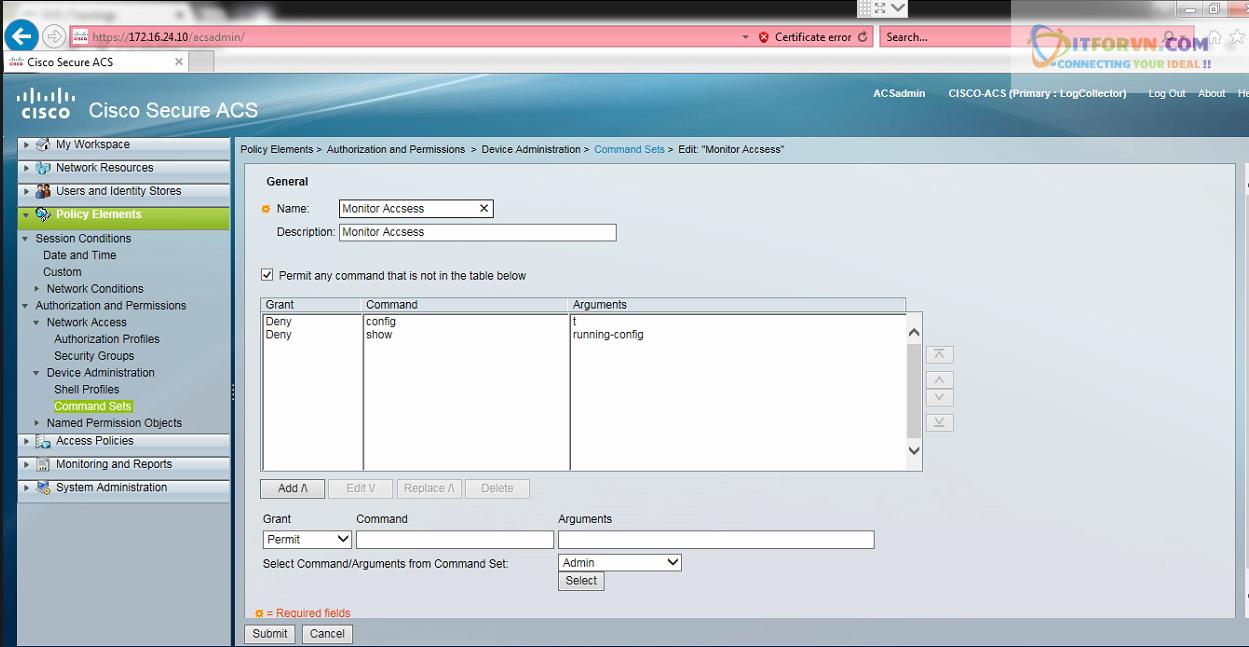 New0206 - Hướng dẫn cấu hình xác thực giữa Cisco ACS với thiết bị router, switch