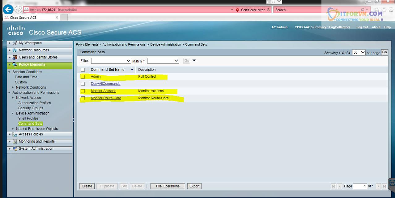 New0207 - Hướng dẫn cấu hình xác thực giữa Cisco ACS với thiết bị router, switch