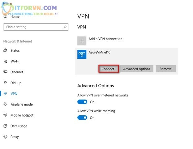ITFORVN.COM Untitled29 Microsoft Azure Toàn Tập – Lab 5: Cấu hình VPN point to site trên Azure -  Azure Resource Manager vpn point to site vpn point to point vpn azure arm vpn azure point to site vpn azure point to point vpn azure azure vpn
