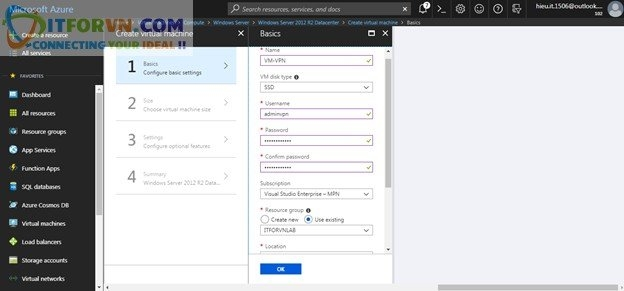 ITFORVN.COM Untitled4 Microsoft Azure Toàn Tập – Lab 5: Cấu hình VPN point to site trên Azure -  Azure Resource Manager vpn point to site vpn point to point vpn azure arm vpn azure point to site vpn azure point to point vpn azure azure vpn