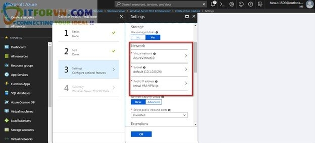 ITFORVN.COM Untitled5 Microsoft Azure Toàn Tập – Lab 5: Cấu hình VPN point to site trên Azure -  Azure Resource Manager vpn point to site vpn point to point vpn azure arm vpn azure point to site vpn azure point to point vpn azure azure vpn