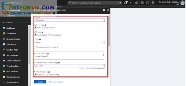ITFORVN.COM Untitled6 Microsoft Azure Toàn Tập – Lab 5: Cấu hình VPN point to site trên Azure -  Azure Resource Manager vpn point to site vpn point to point vpn azure arm vpn azure point to site vpn azure point to point vpn azure azure vpn