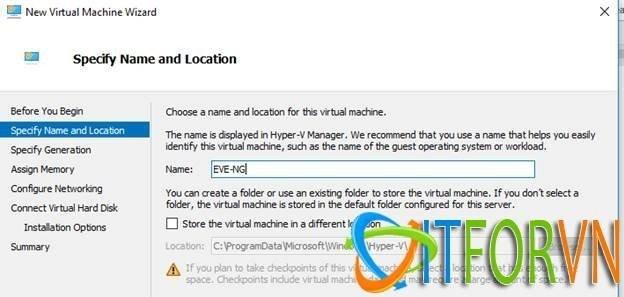ITFORVN.COM image002 Cách Cài Đặt EVE-NG Trên Máy Ảo Hyper-V Image EVE-NG