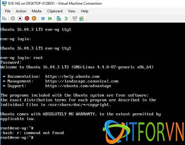ITFORVN.COM image009 Cách Cài Đặt EVE-NG Trên Máy Ảo Hyper-V Image EVE-NG