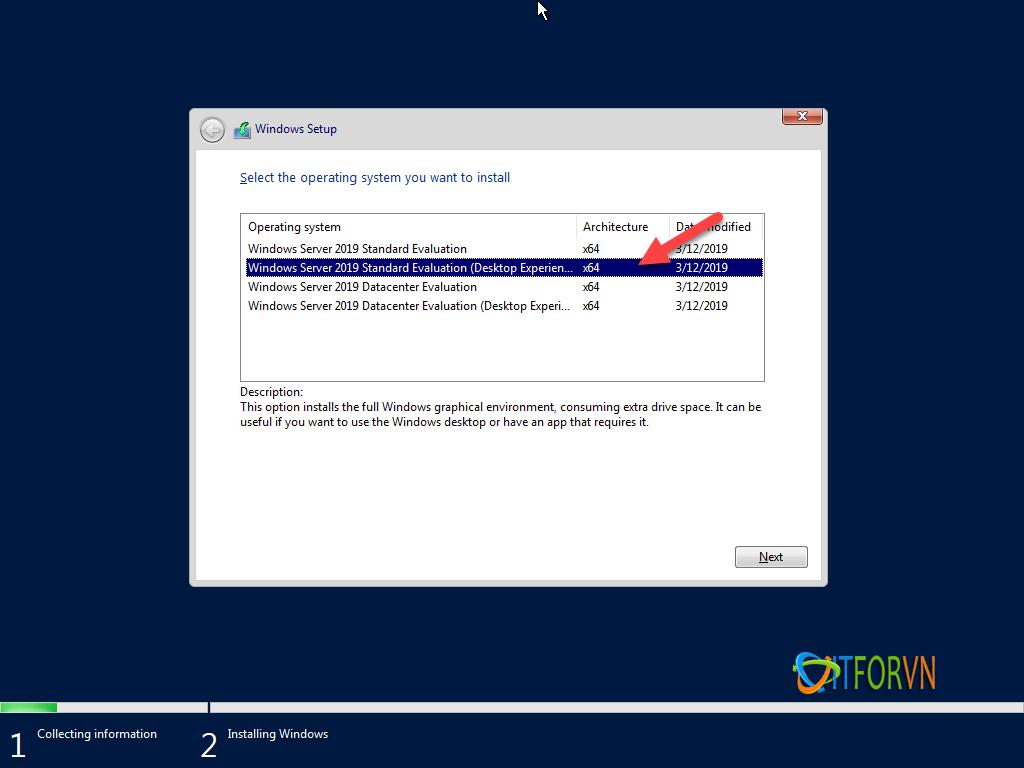 ITFORVN.COM install-windows-server-2019-3 [Tự Học MCSA 2019] Bài 1: TRIỂN KHAI CÀI ĐẶT HỆ ĐIỀU HÀNH WINDOWS SERVER 2019