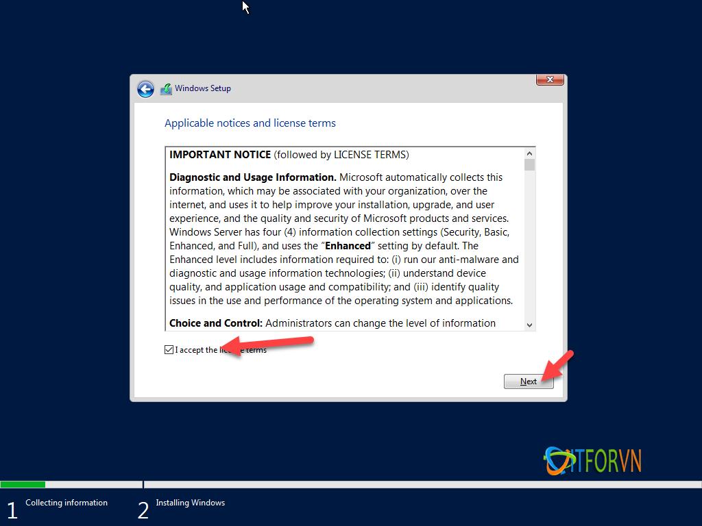 ITFORVN.COM install-windows-server-2019-4 [Tự Học MCSA 2019] Bài 1: TRIỂN KHAI CÀI ĐẶT HỆ ĐIỀU HÀNH WINDOWS SERVER 2019