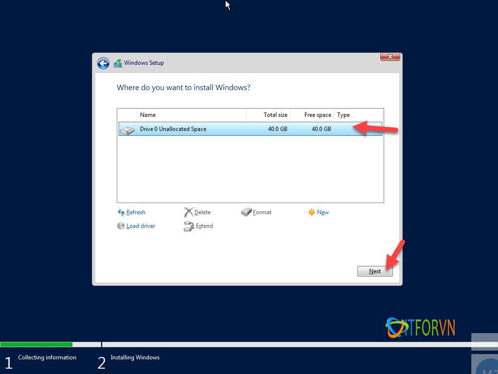 ITFORVN.COM install-windows-server-2019-6 [Tự Học MCSA 2019] Bài 1: TRIỂN KHAI CÀI ĐẶT HỆ ĐIỀU HÀNH WINDOWS SERVER 2019