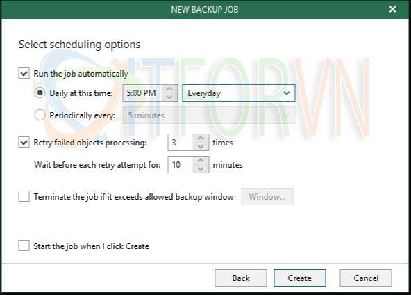 12.Set scheduling options - Veeam Backup for Office 365 v4