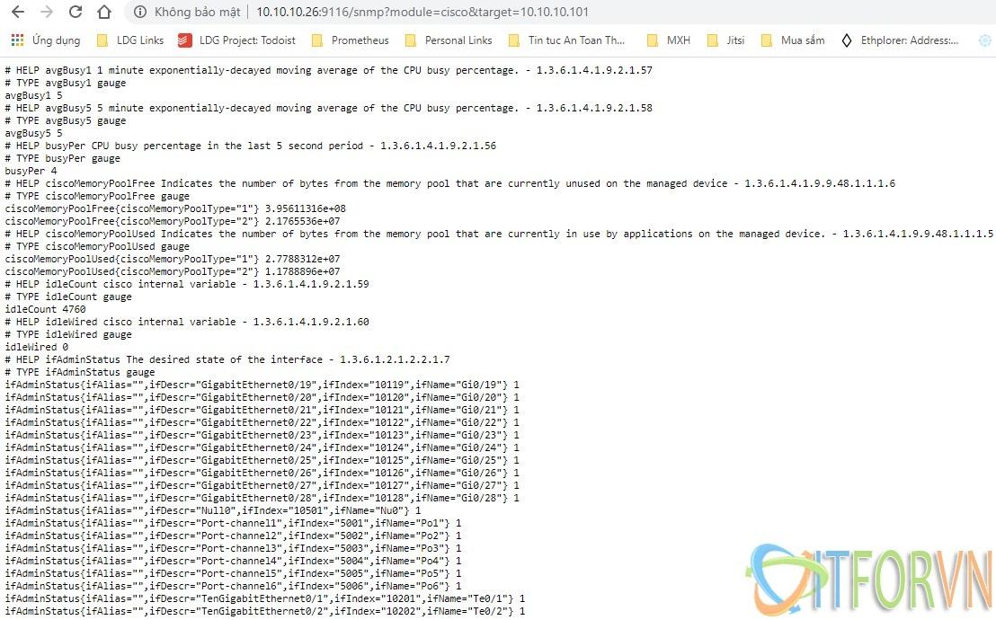 ITFORVN.COM 3-3 [Prometheus từ A đến Z] Phần 04. Giám sát thiết bị mạng Cisco qua snmp với Prometheus giám sát thiết bị mạng giám sát router và switch cisco giám sát cisco