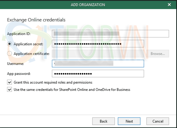 3.Add your Office 365 organization to Veeam Backup for Office 365 - Veeam Backup for Office 365 v4