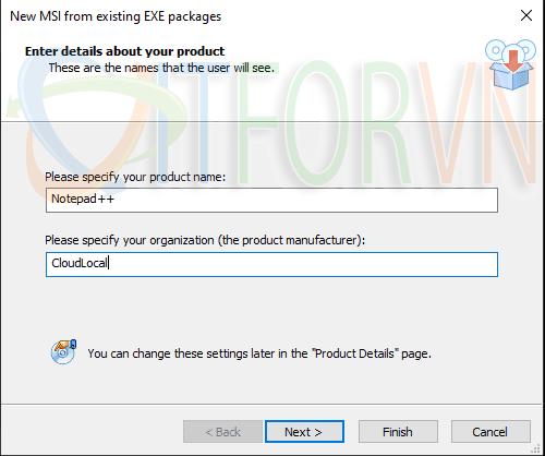 3.Creating an MSI from an existing EXE file - Advanced Installer: Đóng gói ứng dụng cho IT pros và developers