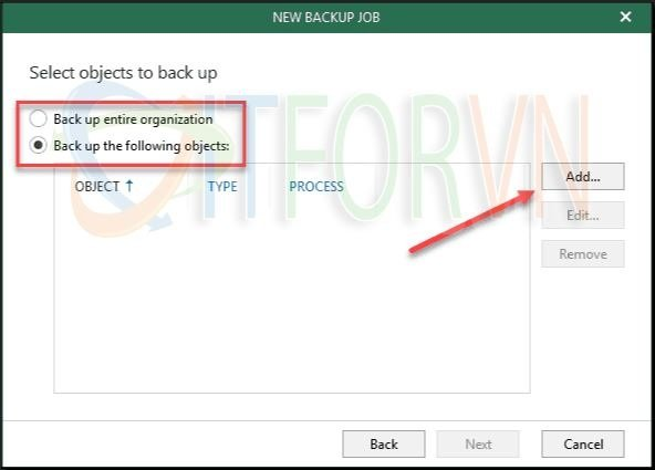 8.Select objects to back up in Office 365 - Veeam Backup for Office 365 v4