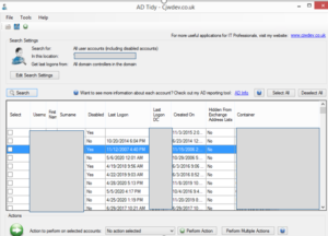 ADTIDY3 - AD Tidy: xác định lần chứng thực cuối cùng của User Domain