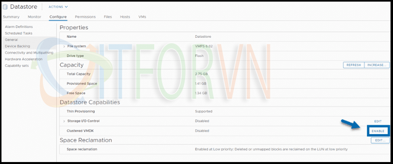 ITFORVN.COM 2.Enable-Clustered-VMDK-support-for-a-datastore VMware vSphere 7 Clustered VMDK