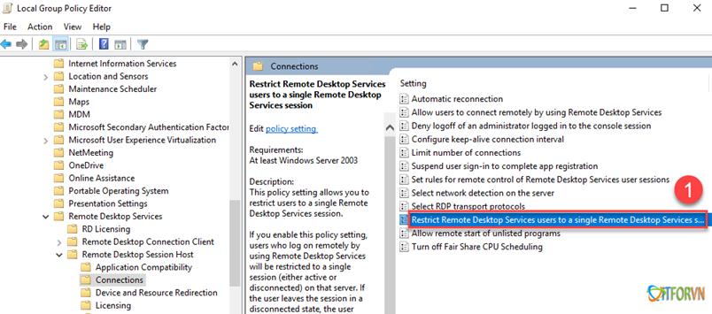 ITFORVN.COM 112020_0831_Hngdncuh14 Cấu hình cho phép nhiều User cùng Remote Desktop vào Windows Sever 2016 Allow Multiple Remote Desktop
