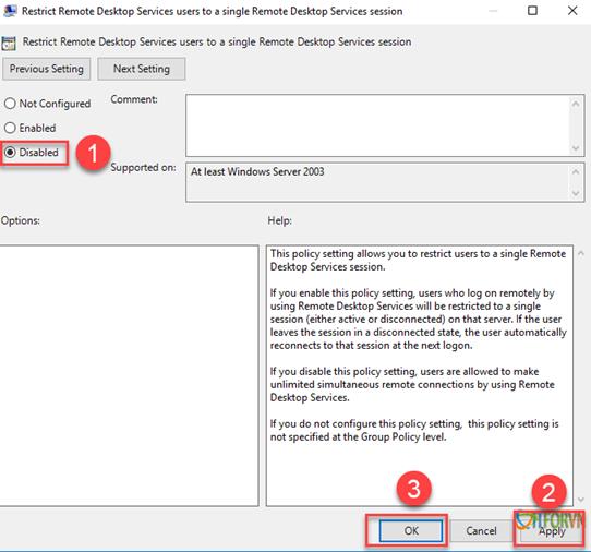 ITFORVN.COM 112020_0831_Hngdncuh15 Cấu hình cho phép nhiều User cùng Remote Desktop vào Windows Sever 2016 Allow Multiple Remote Desktop