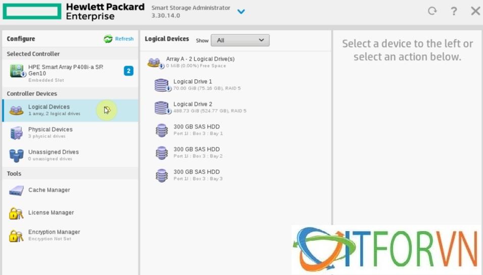 ITFORVN.COM Raid_HPEDL380Gen10_pic11 Hướng dẫn cấu hình Raid máy chủ HP DL380 Gen10