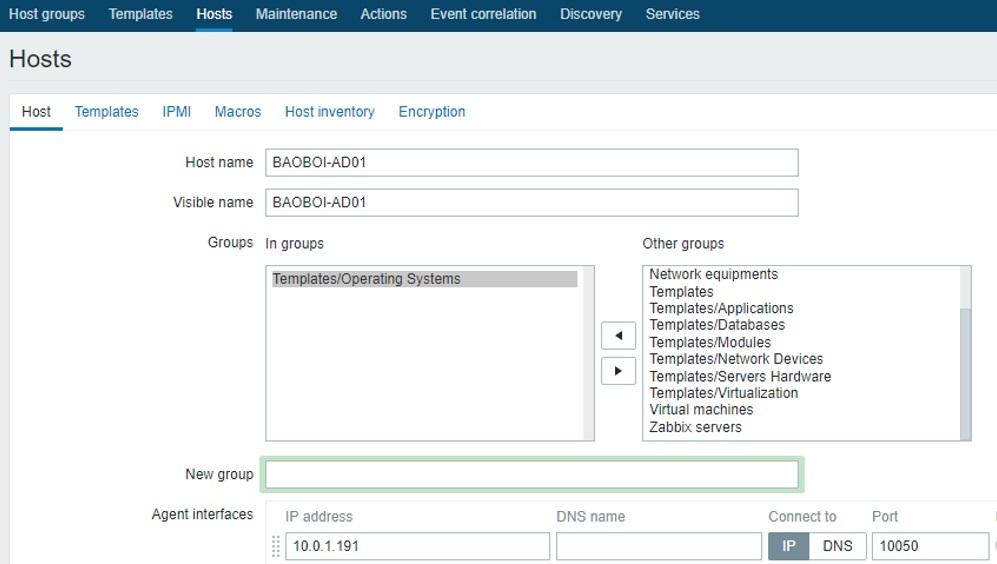 ITFORVN.COM zabbix-windows-11 Zabbix monitoring network 3: Cấu hình Add Host Windows