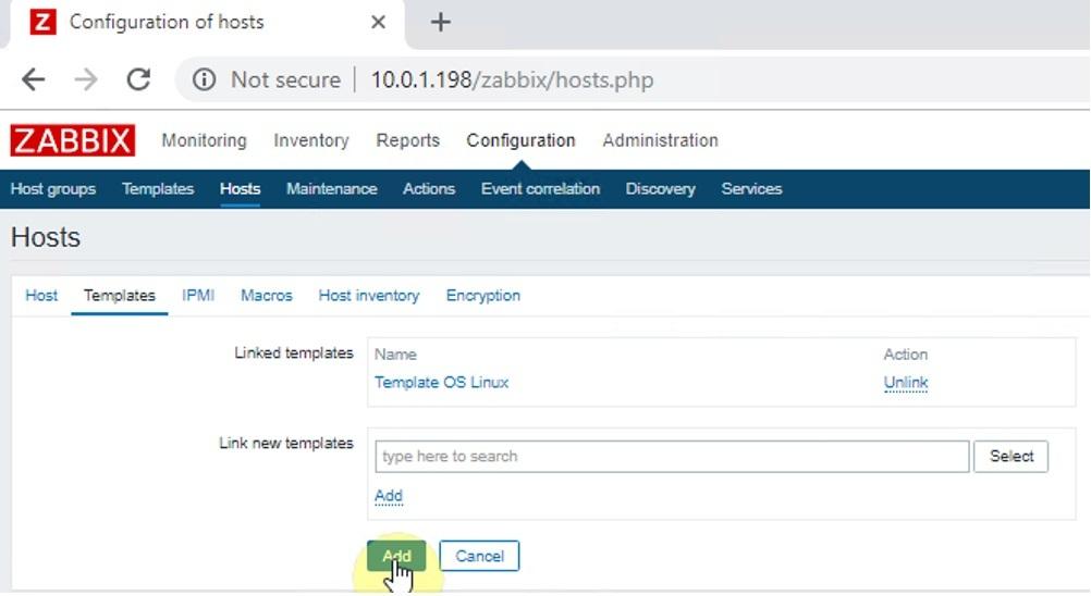 zabbix 4 5 - Zabbix monitoring network 4: Cấu hình Add Host Centos
