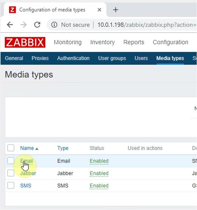 ITFORVN.COM zabbix-6-1 Zabbix monitoring network 6: Mail Alert